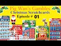 Pig wan's christmas (scratchcards episode 1) merry millions 3x£5 cards
