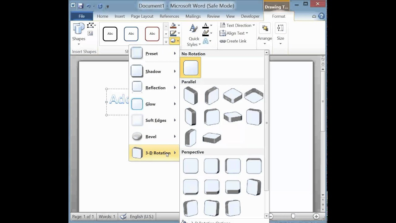 Mirror Text In Microsoft Word 2010 2019 365