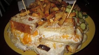 Melt Grilled Cheese 5lb Thirteen Cheeses Sandwich - Food Challenge