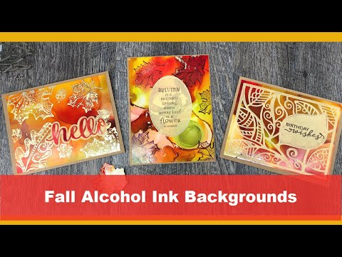Autumn Cards - Alcohol Ink Background