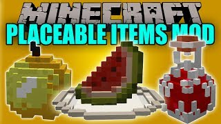 PLACEABLE ITEMS MOD - Objetos en 3D para Decorar - Minecraft mod 1.10.2 y 1.11.2 Review