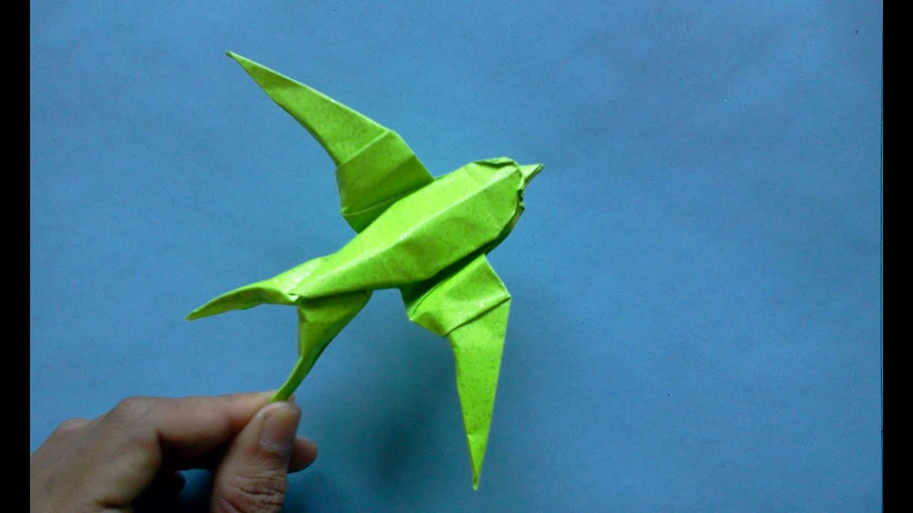How To Make Origami Bird Swallow Sipho Mabona Youtube