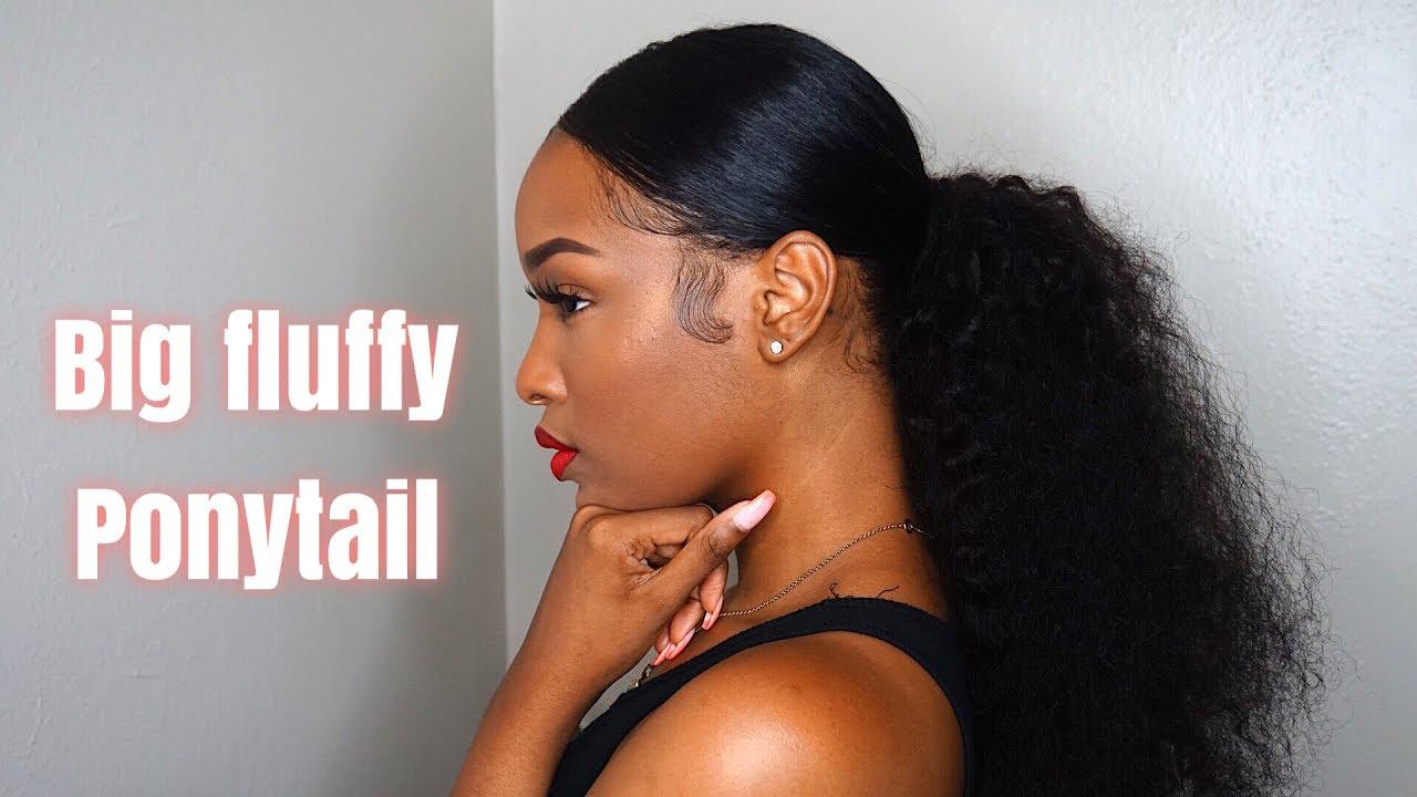 grwm: hair | big fluffy ponytail | fabulousbre