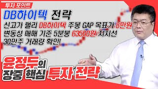 DB하이텍 신고가랠리 주봉 GAP 목표 8만원 &…