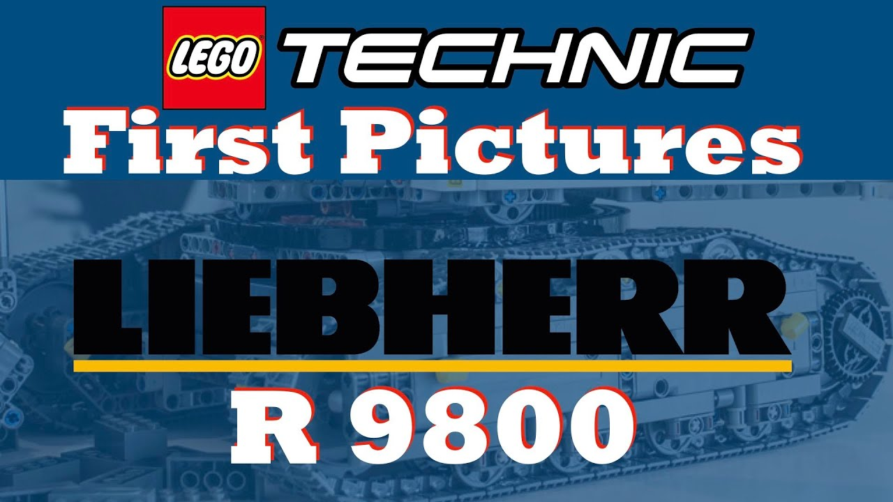First Images Of Lego Technic Liebherr R 9800 Set 42100 Youtube