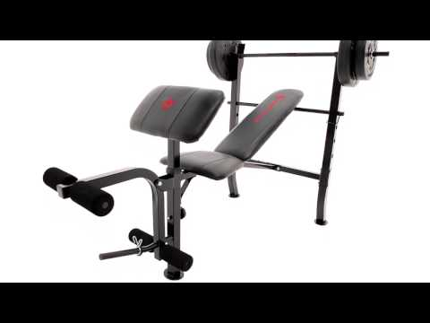 Marcy Standard Weight Bench + 80lb Weight Set | MKB-2081