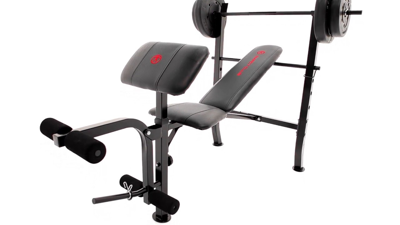 Marcy Standard Weight Bench 80lb Weight Set MKB2081 YouTube
