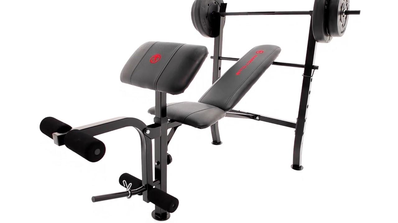 marcy standard weight bench 80lb weight set mkb 2081