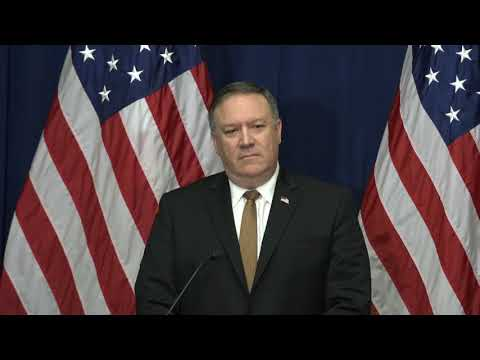 Secretary Pompeo Delivers Remarks At Press Availability In New York City