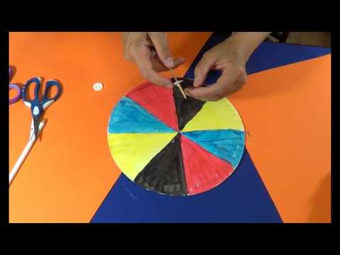 Paper plate spinning wheel