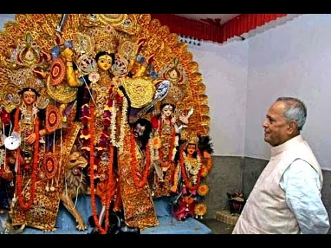 Prez Pranab Mukherjee reaches Mirati, to perform Durga Puja