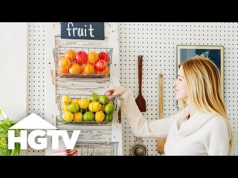 Upcycle a Shutter Into a Kitchen Produce Bin - HGTV Happy