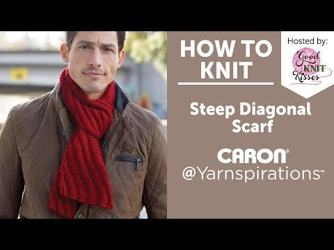 How to Knit a Scarf: Steep Diagonal Scarf