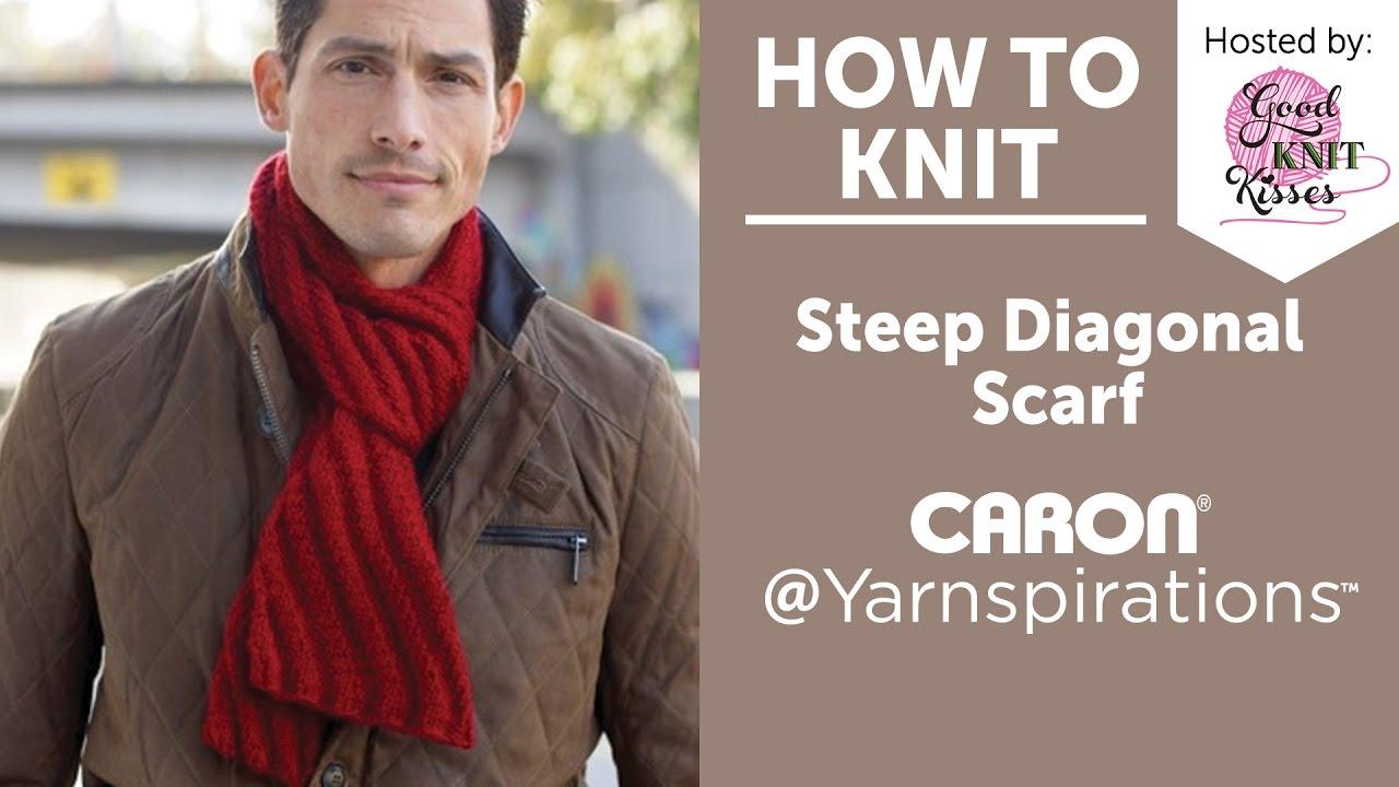 Knit A Scarf Steep Diagonal Scarf Youtube