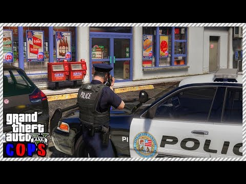 GTA 5 Cop Roleplay - Active Store Robbery   RedlineDOJ Eᴘ.8
