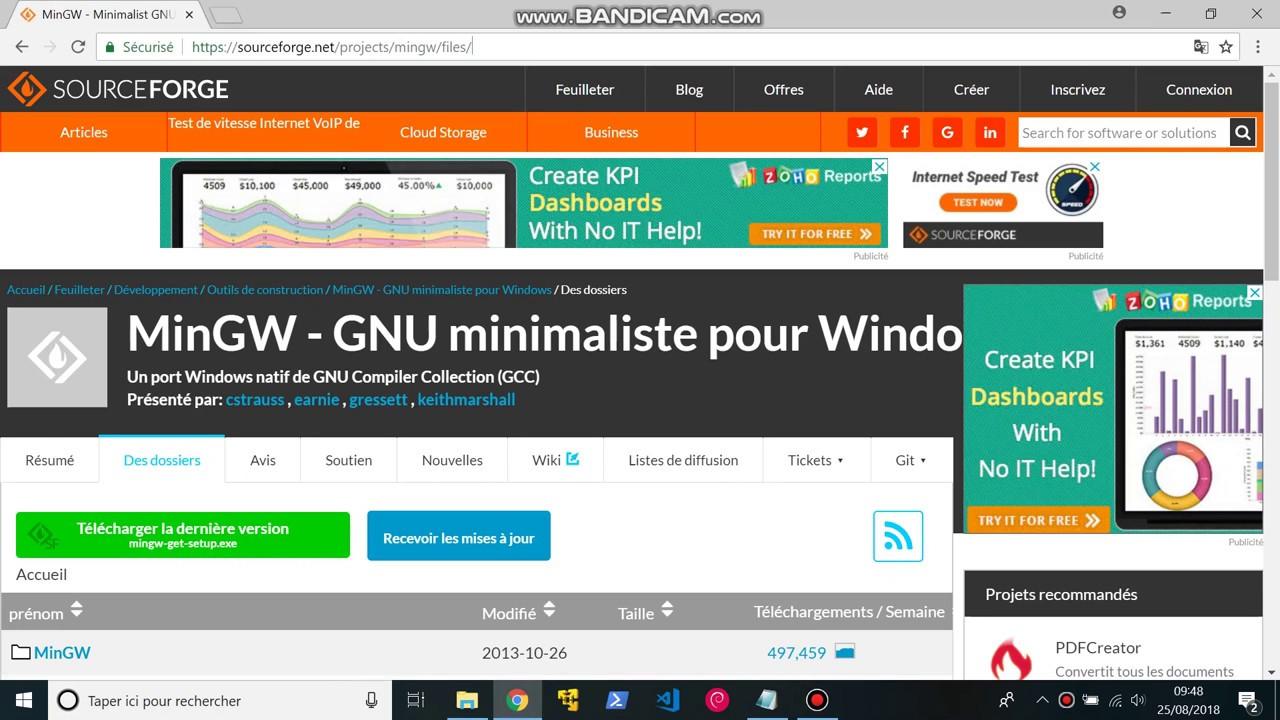 Installer MinGW sur Windows 10