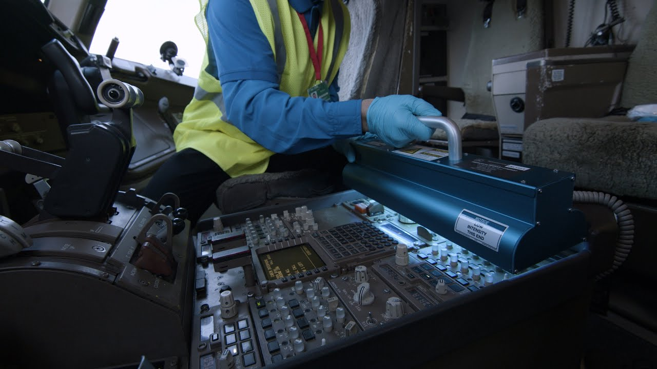 Cleaning Flight Decks Using State-of-the-Art UVC Technology