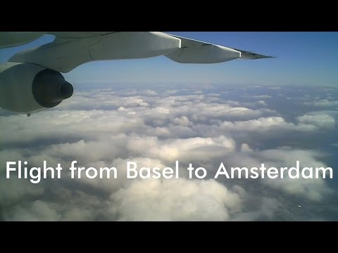 Flight from Basel to Amsterdam [HD]