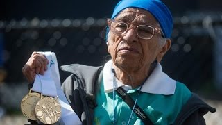 101-Year Old Woman WINS GOLD in 100 Meter Race at World Masters Games