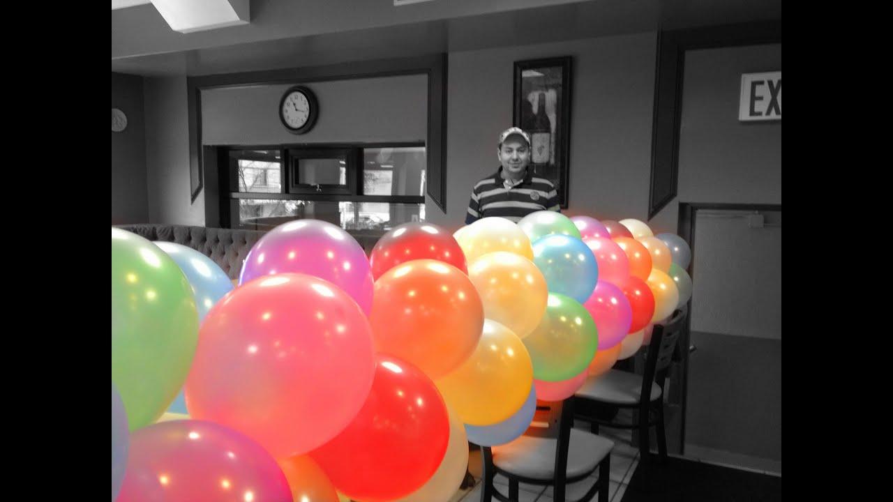 Curso de decoraciones con globos primera parte youtube - Decoracion de globos ...
