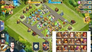 Free 2 Play 185,000 Might BEAST Rolling 26,000 For Talents LUCKY Castle Clash