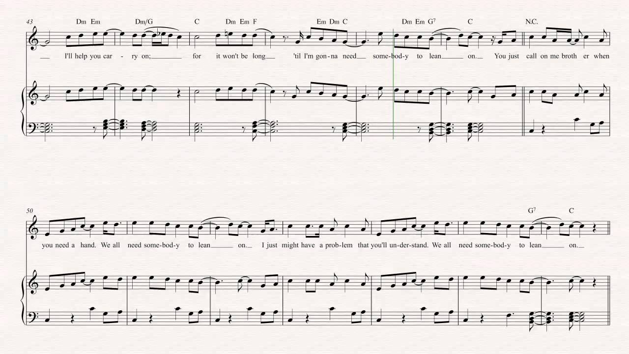 Alto Sax Lean On Me Bill Withers Sheet Music Chords Vocals
