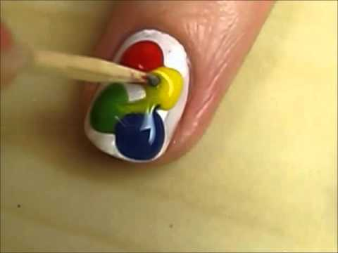 Tie Dye Hippie Nail Art - Tie Dye Hippie Nail Art - YouTube