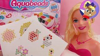 Barbie a její nové vlasy | Výroba šperků z Aquabeads | Ukázka