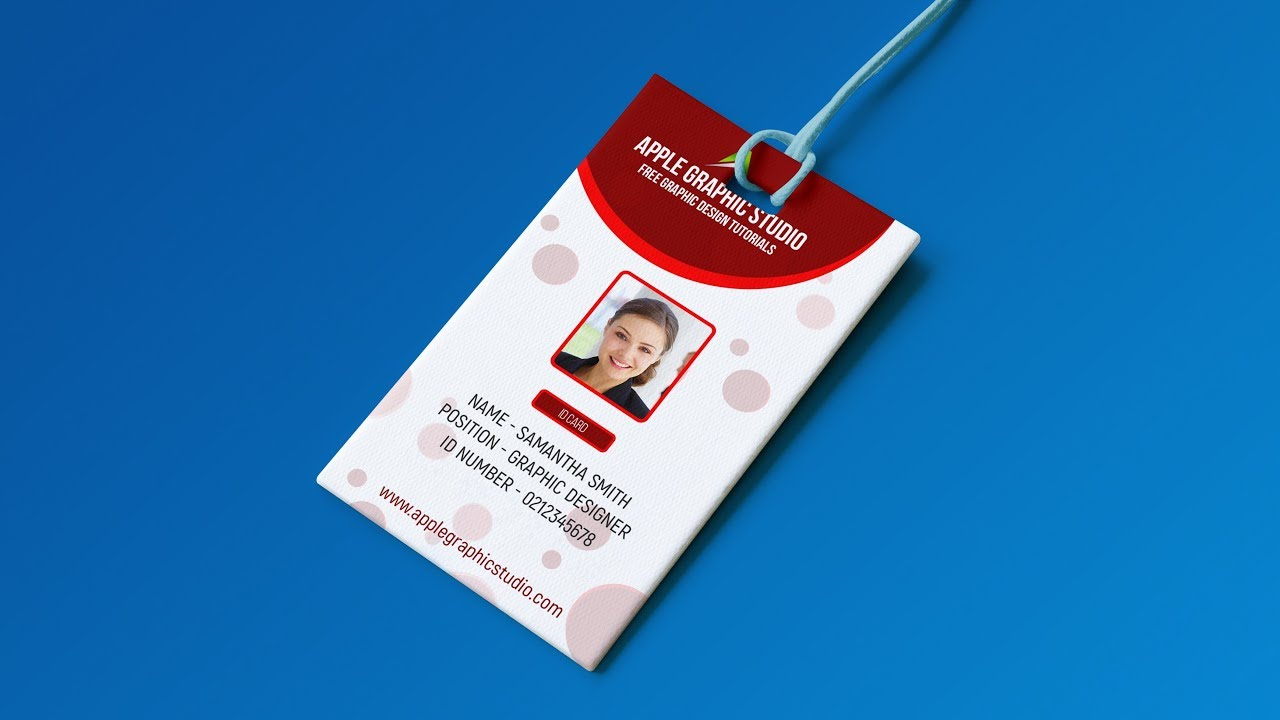 create professional id card template photoshop tutorial youtube
