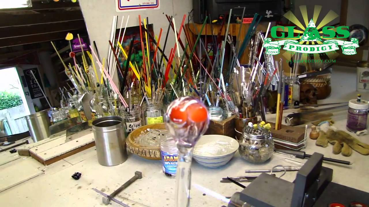 how to cut glass tube with torch