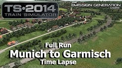 Munich to Garmisch Full Run - Time Lapse - Train Simulator 2014