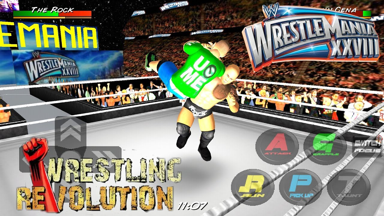 John Cena vs  The Rock(WM28) - WRESTLING REVOLUTION 3D HIGHLIGHTS