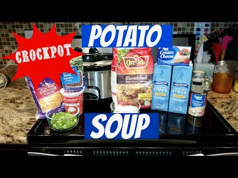 EASY CROCKPOT POTATO SOUP~FOODIE FRIDAYS!