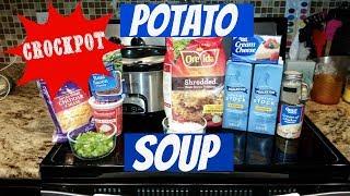 EASY CROCKPOT POTATO SOUP~FOODIE FRIDAYS!