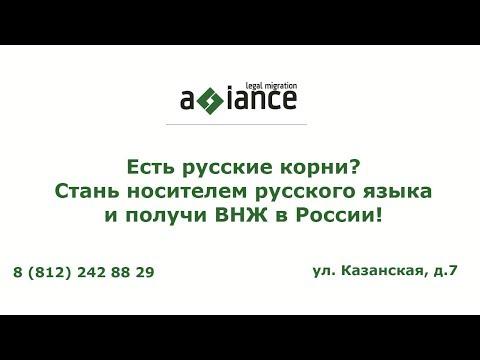 видео: Есть русские корни?  Стань носителем русского языка и получи ВНЖ в России!