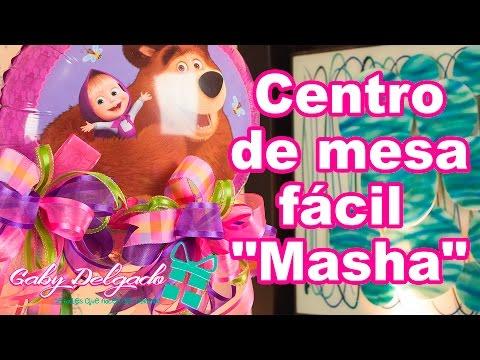 """Centro de mesa fácil """"Masha"""""""