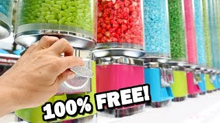 Getting UNLIMITED FREE CANDY from Gumball Machines! (LEGIT!)