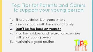 Our healthy minds lincolnshire practitioner laura talks through her top tips for parents/carers supporting their children/young covid-19