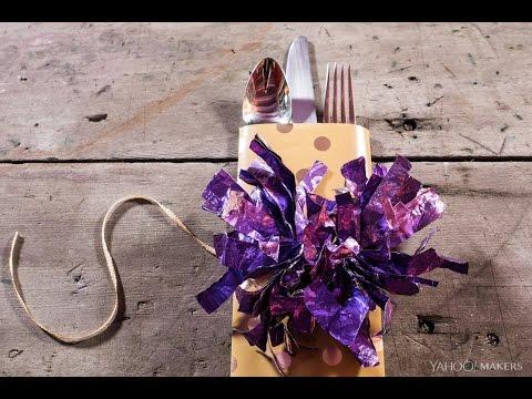 DIY a Gift Wrap Silverware Holder
