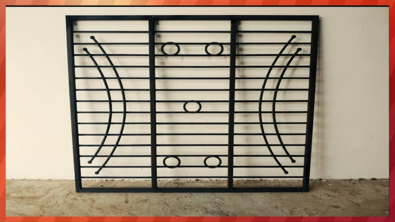 New Modern Grill Design Security Window Grill Making Youtube