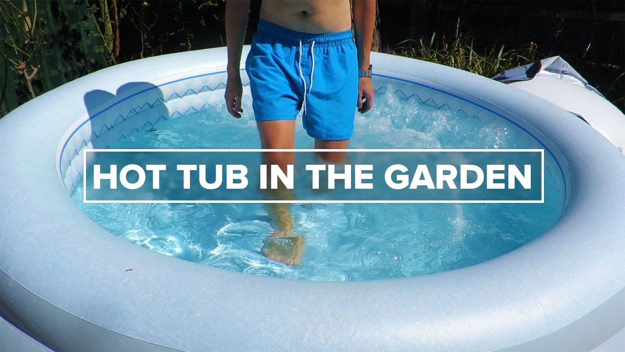 Hot Tub in the Garden - YouTube