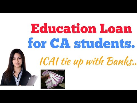 Education Loan For CA Students