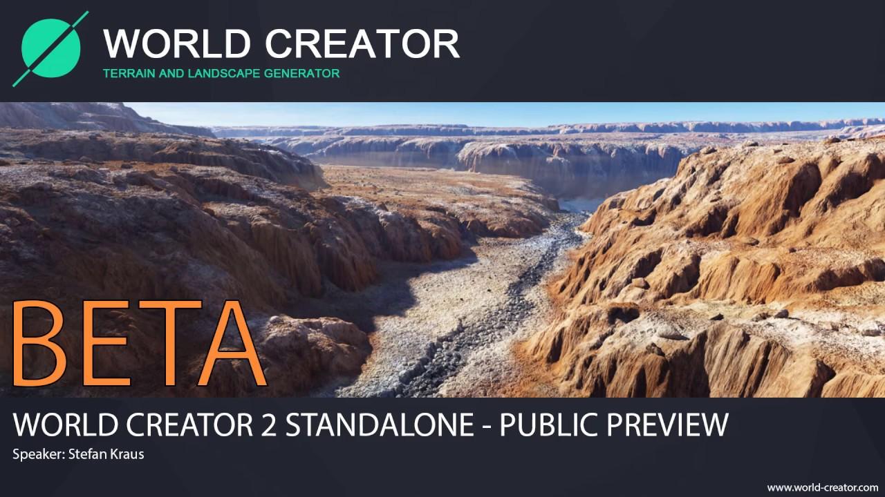 World Creator 2 Standalone - BETA 01