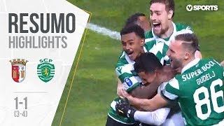 Highlights | Resumo: Sp. Braga 1-1 Sporting (3-4 g.p.) (Allianz Cup 18/19 1/2 final)