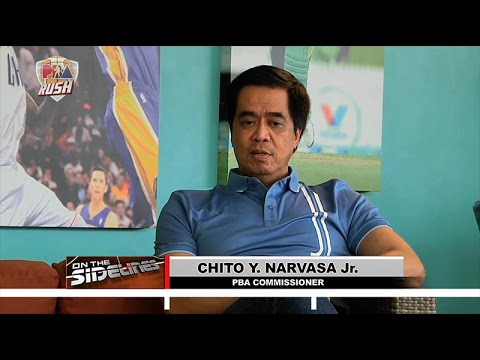 "Commissioner Chito Narvasa Interview with PBA Rush ""On the Sidelines"" 1 of 3"