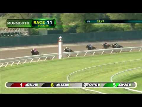 video thumbnail for MONMOUTH PARK 6-2-19 RACE 11