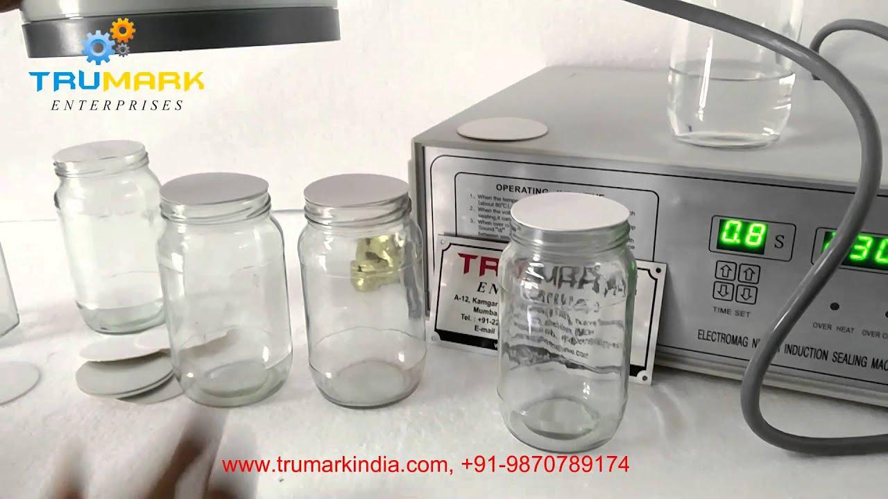 Manual Induction Sealer On Glass Jar Youtube