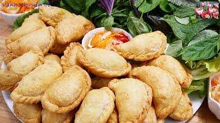 Bánh Thịt Gà - Cách làm Vỏ Bánh Gối / Bánh Xếp Nhân thịt Gà Cà ri - món ăn ngon by Vanh Khuyen