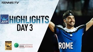 Tuesday Rome Highlights: Fognini Shocks Murray; Djokovic Advances