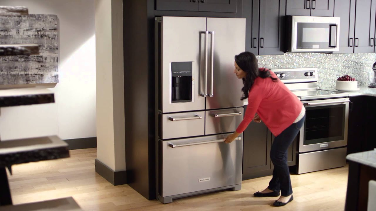 The First Ever 5 Door Refrigerator | KitchenAid   YouTube